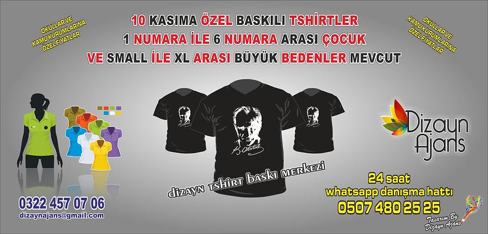 10 Kasım Atatürk Baskılı Tshirt Fiyatı