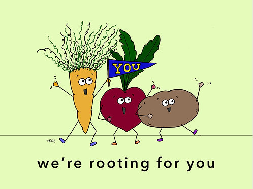 cheering root veggies