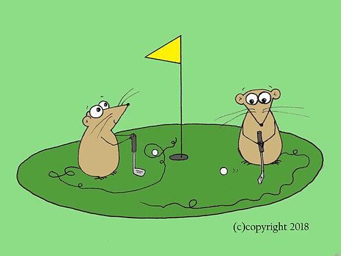 golfing mice