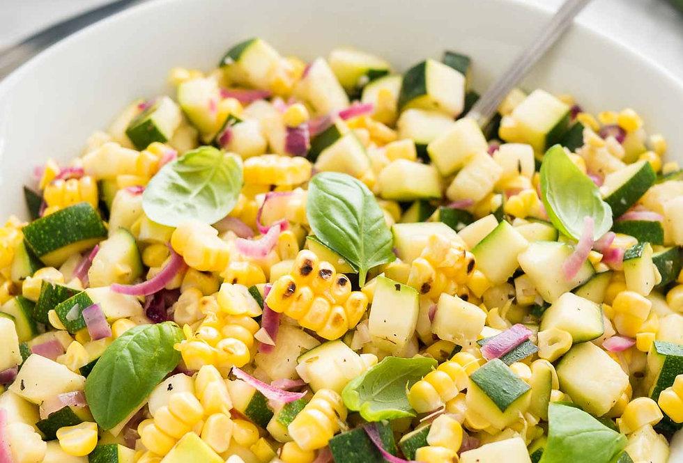 Roasted Corn Zucchini Salad