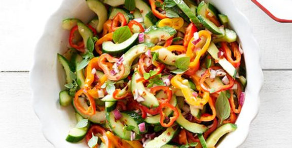 Ginger, Cucumber and Pepper Salad