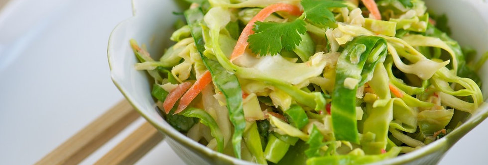 Spicy Arrowhead Cabbage Slaw