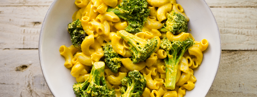 Vegan Mac n' Cheese with Broccoli