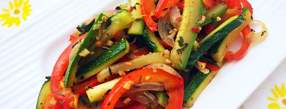 Zucchini and Bell Pepper Saute