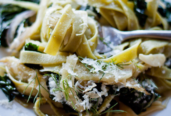 Pasta with Fennel, Kale and Lemon