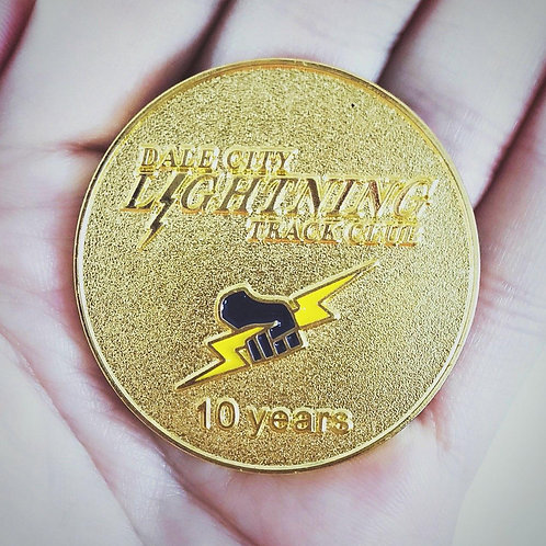 10 Year Anniversary Pin