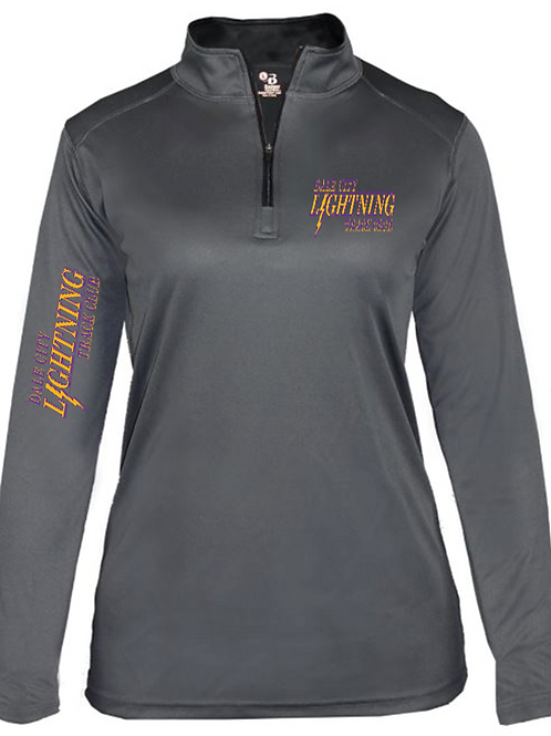Half Zip Compression (Women) - Grey