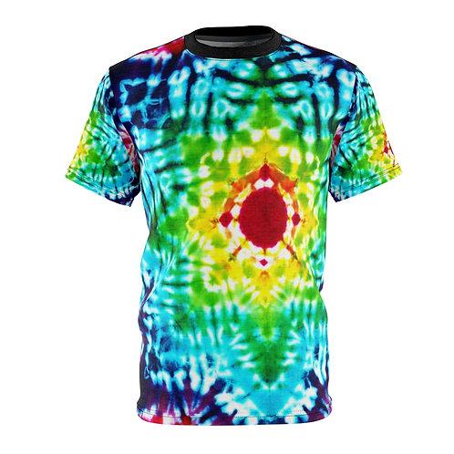Rainbow Burst Tie Dye Print Unisex Tee