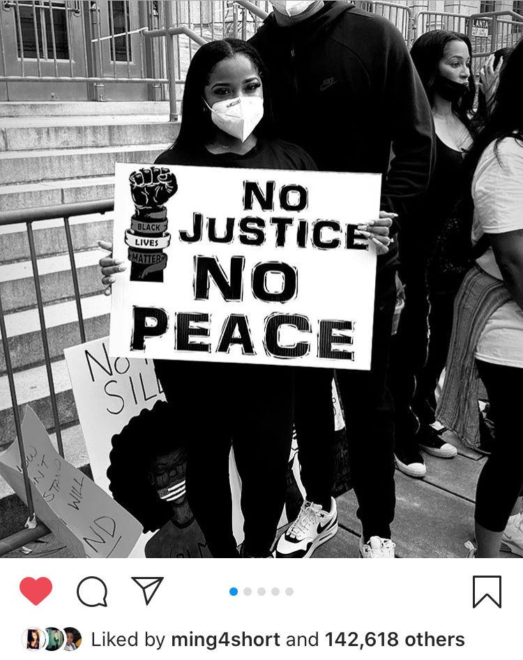 Nykieria Chaney Black Lives Matter Fist
