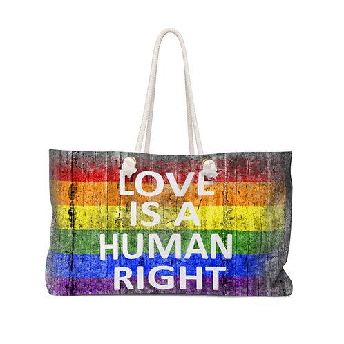 Human Rights Weekender Bag