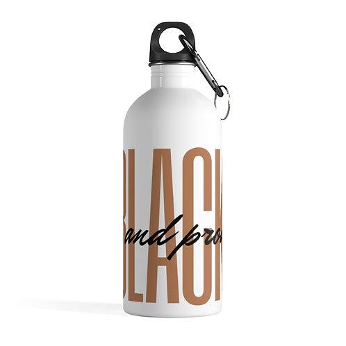 Black & Proud Stainless Steel Water Bottle