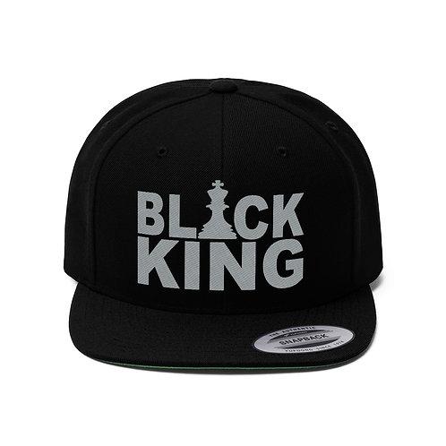 Black King Unisex Flat Bill Hat