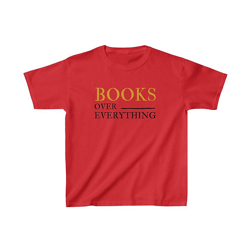 Books Over Everything Kids Heavy Cotton™ Tee