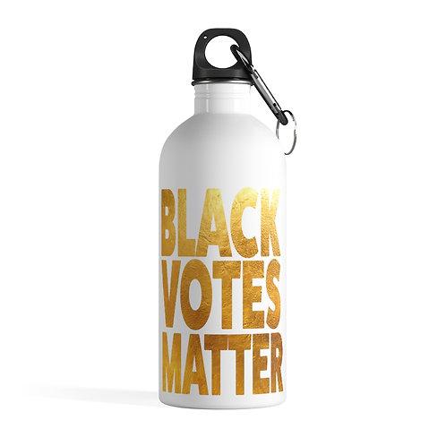 Black Votes Stainless Steel Water Bottle