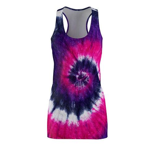 Pink and Purple Racerback Tie Dye Dress