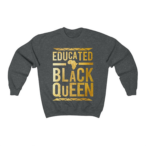 Educated Queen Unisex Heavy Blend Crewneck Sweatshirt