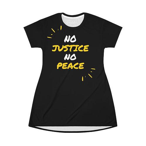 No Justice No Peace T-Shirt Dress