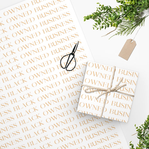 Black Owned Business Gold - Small Lettering Wrapping Paper