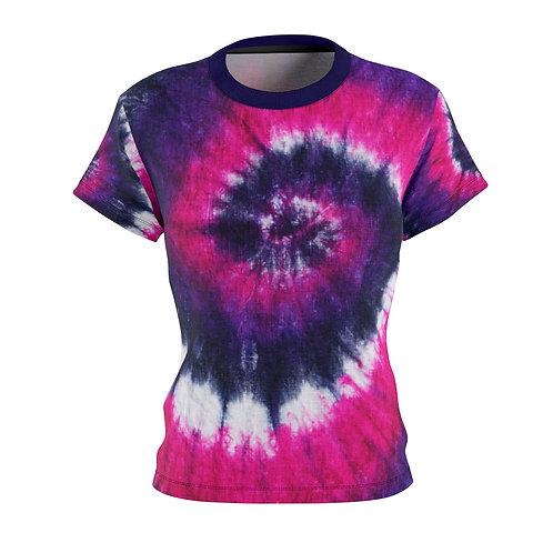 Pink & Purple Women's Tie Dye Tee