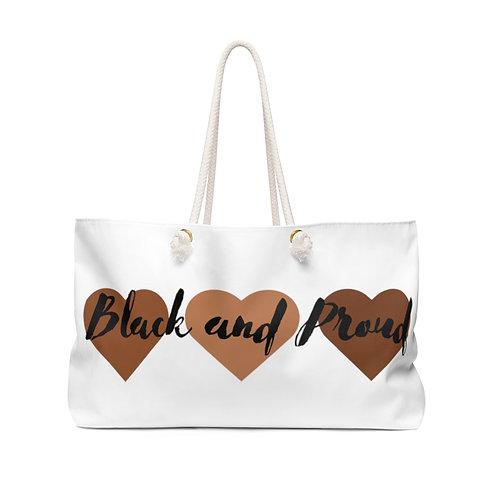 Black & Proud Heart Weekender Bag
