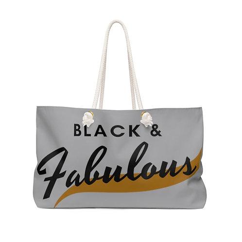 Black & Fabulous  Weekender Bag