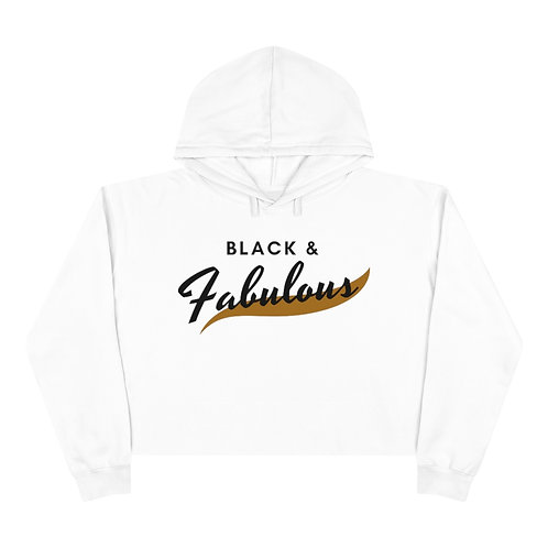 Black and Fabulous Cropped Hoodie