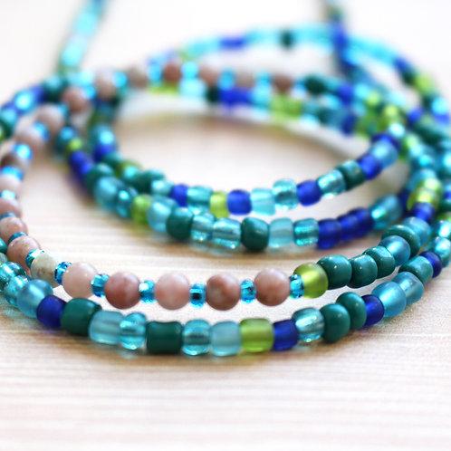 Calming Sunstone African Waist Beads