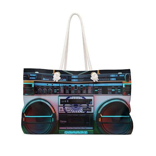 80s Boombox Cassette Weekender Bag