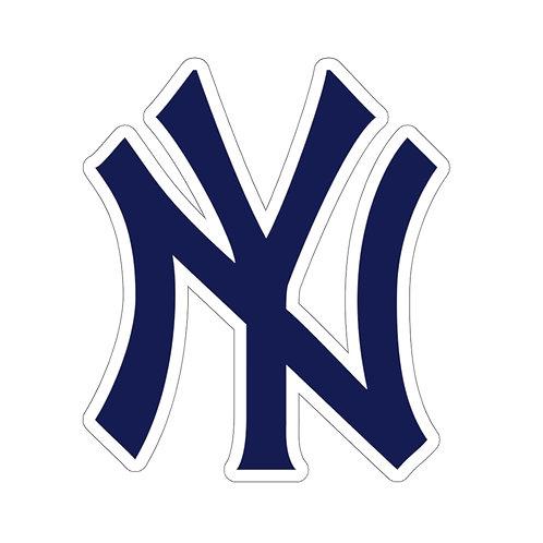 NY Yankee Style Kiss-Cut Sticker