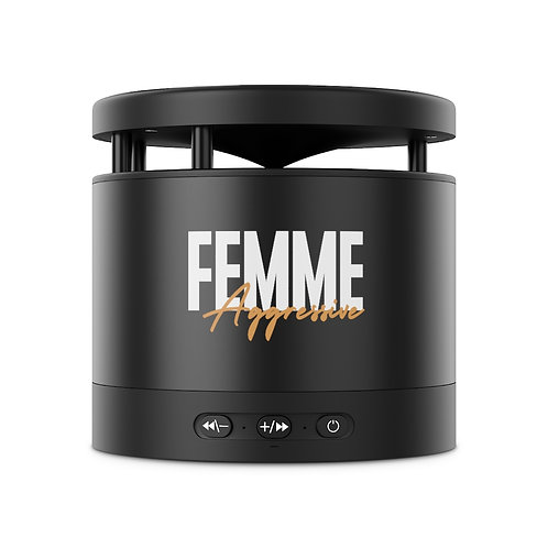 Femme Aggressive Metal Bluetooth Speaker and Wireless Charging Pad