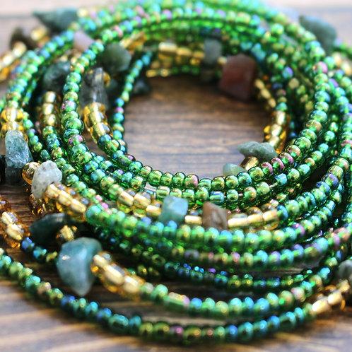 Green Fancy Jasper African Waist Beads