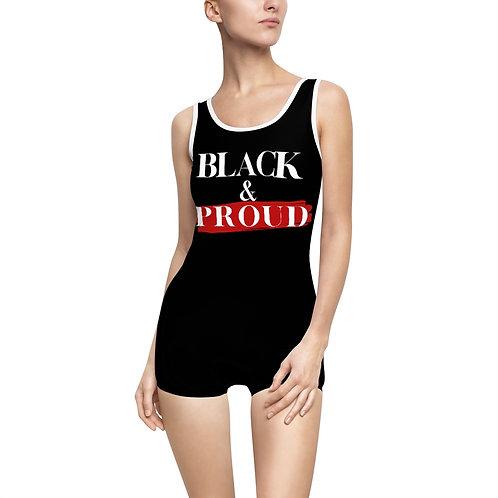 Black and Proud Vintage Swimsuit - Modest Swimwear