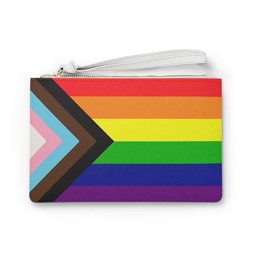 Pride Vegan Leather Clutch Bag