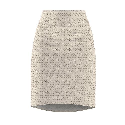 Buttercream Arrow Women's Pencil Skirt