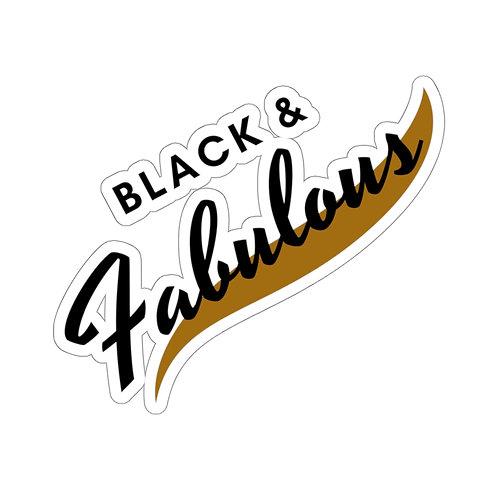 Black and Fabulous Kiss-Cut Sticker