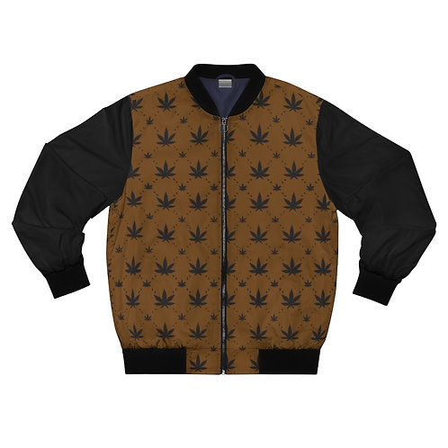 Brown Pro Canna Bomber Jacket
