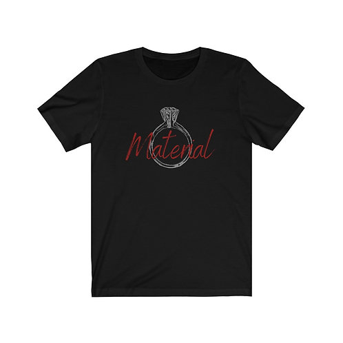 Ring Material Unisex Jersey Short Sleeve Tee