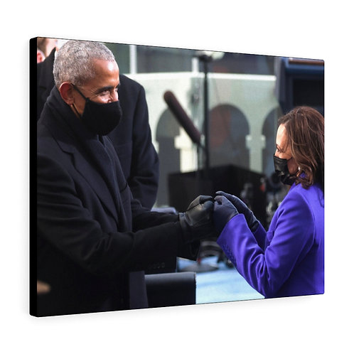 President Obama and Vice President Harris Canvas Gallery Wrap