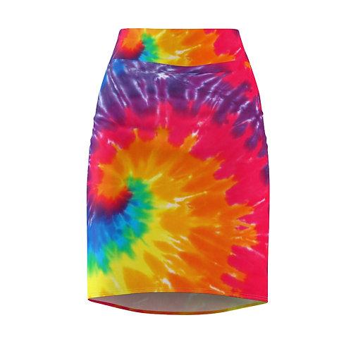Raspberry Sorbet Pencil Skirt