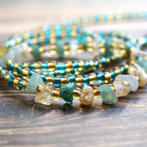 Aventurine and Citrine African Waist Beads