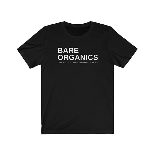 Bare Organics Unisex Jersey Short Sleeve Tee
