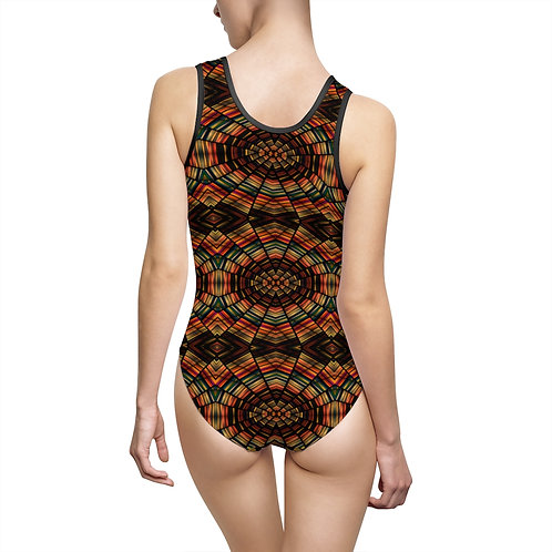 Brown Mosaic Swimsuit