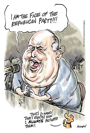 Rush Limbaugh Cartoon by Ian D. Marsden of mar...