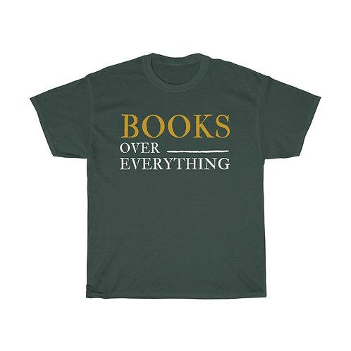 Books Over Everything Unisex Heavy Cotton Tee