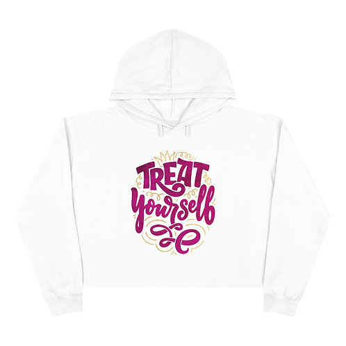 Treat Yourself Cropped Hoodie