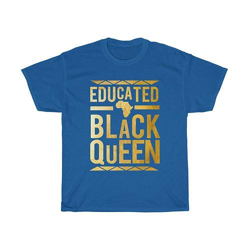 Educated Black Queen Unisex Heavy Cotton Tee