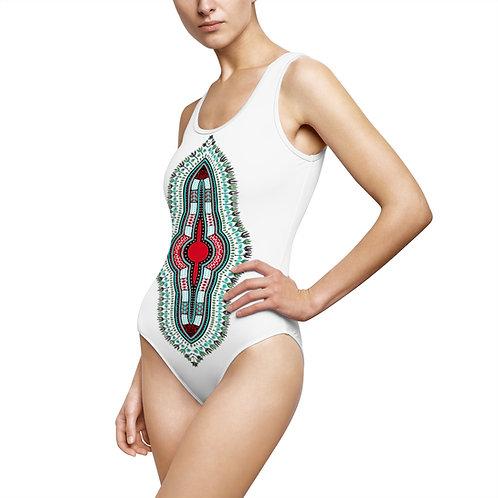 Dashiki Print Swimsuit