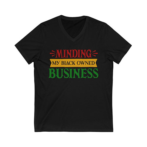Minding My B.O.B Unisex Jersey V-Neck Tee