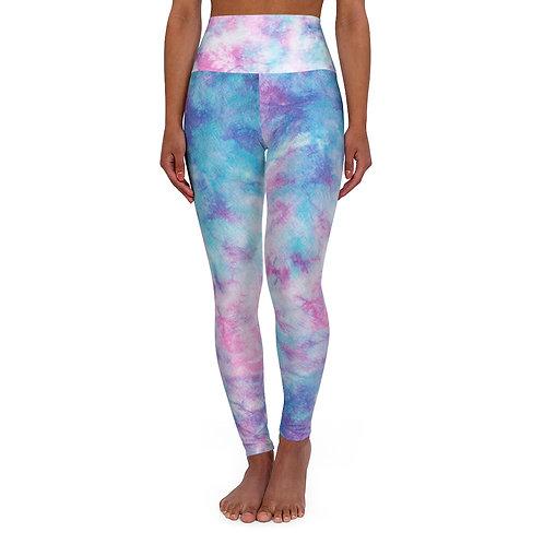 Pastel High Waisted Tie Dye Yoga Leggings