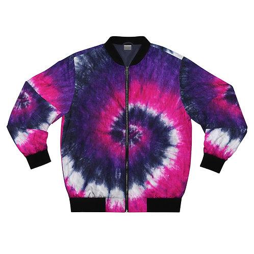 Purple Tie Dye Bomber Jacket